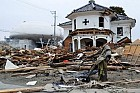Церковь в Ишиномаки, разрушенная цунами.