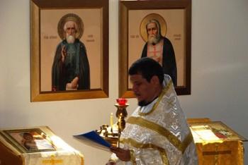 О.Игнатий совершает литургий в храме Владимирской иконы Богородицы<br/> в Коронадо, Коста Рика.
