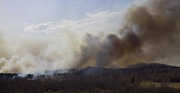 Лесной пожар на Урале.