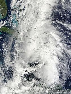 Ураган Томас над Гаити, Кубой и Ямайкой<br/>Фото: NASA