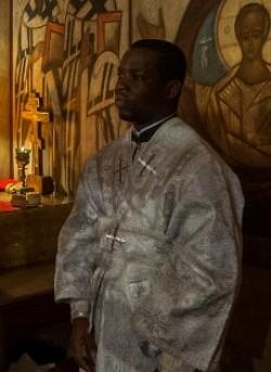 Диакон Августин Жеснель в день рукоположения.