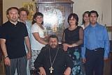 Члены прихода Св. Нектария <br> в Сантьяго. О.Алексий Аедо - в центре