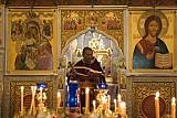 О.Грегуар Легуте служит литургию <br>в соборе Св. Иоанна Предтечи в Вашингтоне <br>7 марта, 2010 г.<br> фото А. Толчинского