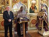 О.Грегуар Легутэ <br>говорит проповедь на Литургии в соборе <br>Св. Иоанна Предтечи в Вашингтоне 5 марта 2010 г.
